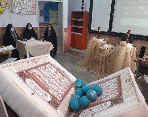 بازدید کارشناس محترم فرهنگی موسسه از روند برگزاری مسابقه قرآنی پرتو نور
